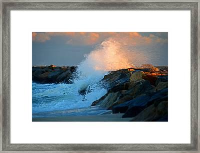 Wild Winter Morning - Cape Cod Bay Framed Print by Dianne Cowen