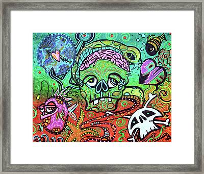 Wild Zombie Framed Print by Laura Barbosa