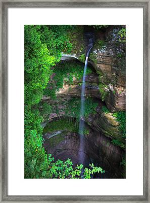 Wildcat Canyon Falls Framed Print