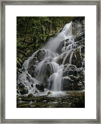 Wildcat Falls In Color Framed Print