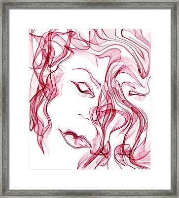 Wilder And Wilder Love Framed Print by Abstract Angel Artist Stephen K