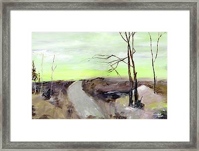 Framed Print featuring the painting Wilderness 2 by Anil Nene