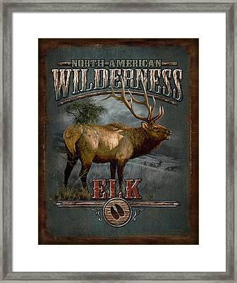 Wilderness Elk Framed Print