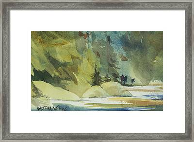 Wilderness Hike Framed Print by Kris Parins