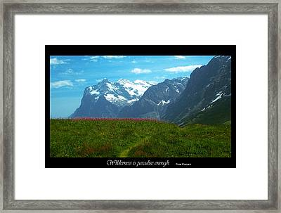 Wilderness Is Framed Print by Jessica T Peterson