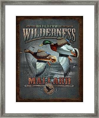 Wilderness Mallard Framed Print