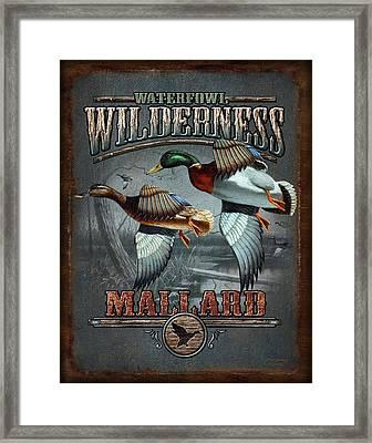 Wilderness Mallard Framed Print by JQ Licensing