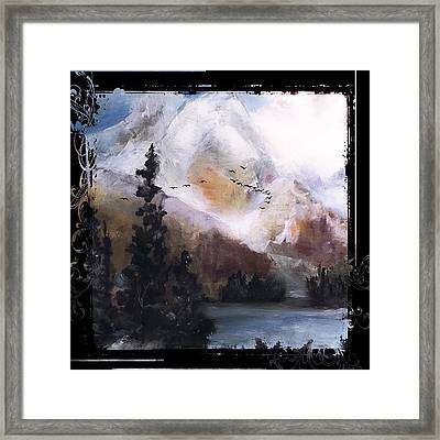 Wilderness Mountain Landscape Framed Print