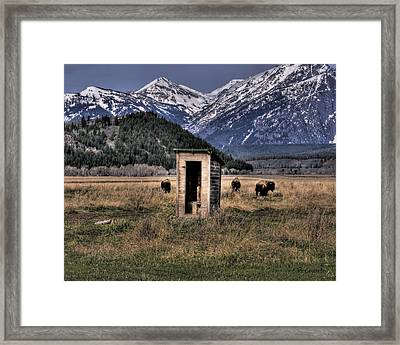 Wilderness Outhouse Framed Print