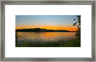 Wilderness Point Sunset Panorama Framed Print by Gary Eason