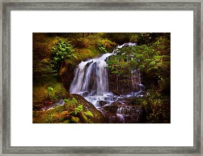 Wilderness. Rest And Be Thankful. Scotland Framed Print by Jenny Rainbow
