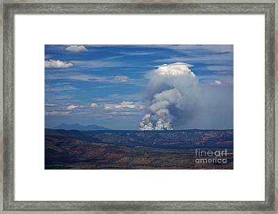 Framed Print featuring the photograph Wildfire Flares Up In Northern Az by Ron Chilston