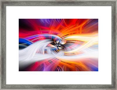 Wildfire Lights Framed Print by Debra and Dave Vanderlaan