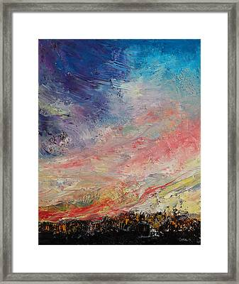 Wildfire Framed Print by Michael Creese
