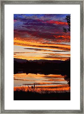 Wildfire Sunset 1v  Framed Print by James BO  Insogna