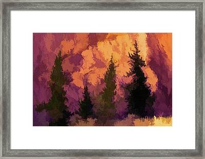 Wildfires Framed Print