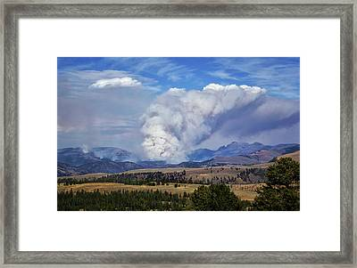Wildfires In Yellowstone Framed Print