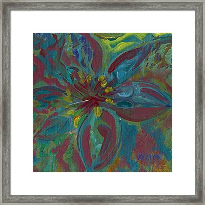 Framed Print featuring the painting Wildflower 1 by John Keaton