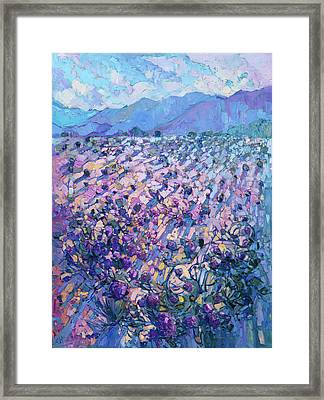 Framed Print featuring the painting Wildflower Dawn by Erin Hanson