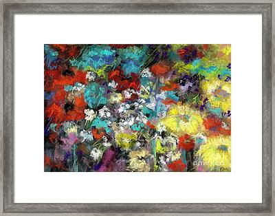 Wildflower Field Framed Print by Frances Marino