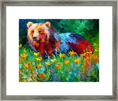 Wildflower Grizz II Framed Print by Marion Rose