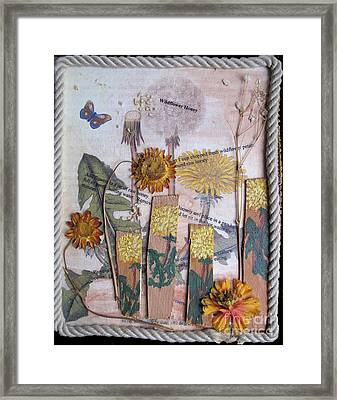 Wildflower Honey Framed Print