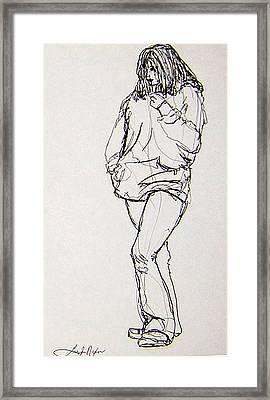 Wildflower Framed Print by Lee Nixon