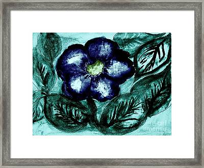 Wildflower Framed Print by Marsha Heiken
