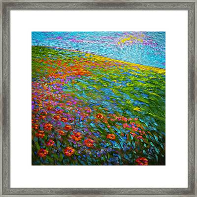 Wildflower Pastoral Framed Print