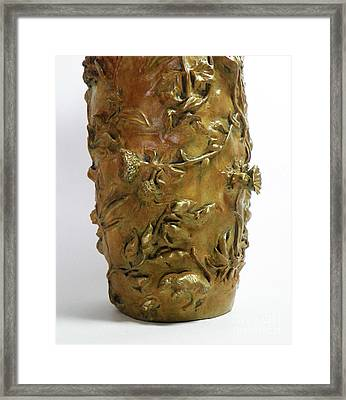 Wildflower Promise - Bronze Vase - Detail Framed Print by Dawn Senior-Trask