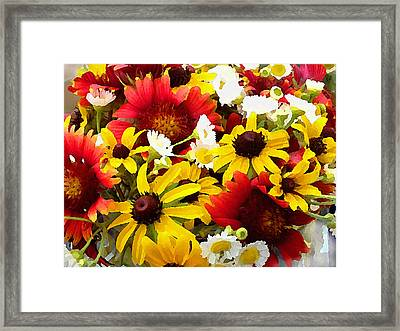 Wildflower Riot Framed Print
