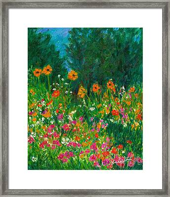Wildflower Rush Framed Print