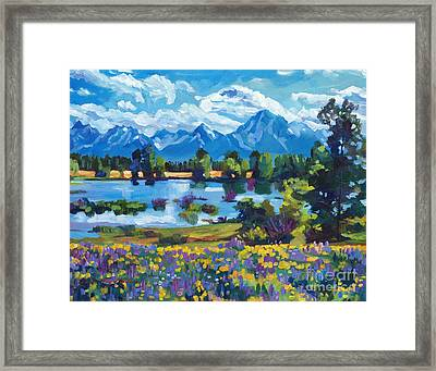 Wildflower Valley Framed Print by David Lloyd Glover