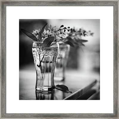 Wildflowers Black And Whiite Framed Print
