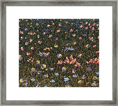 Framed Print featuring the painting Wildflowers by James W Johnson