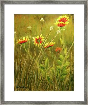 Wildflowers Framed Print by Joan Swanson