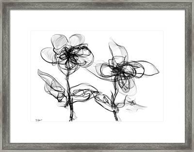 Wildflowers Kissing Framed Print