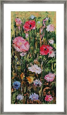 Flowers Framed Print by Michael Creese