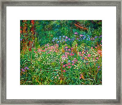 Wildflowers Near Fancy Gap Framed Print