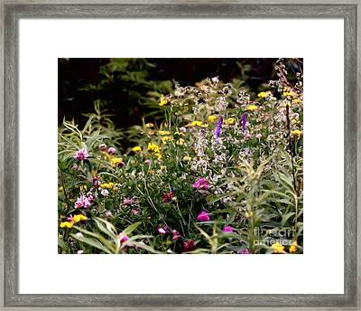 Framed Print featuring the painting Wildflowers by Smilin Eyes  Treasures