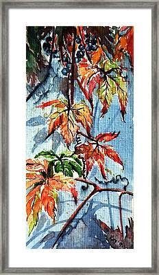 Framed Print featuring the painting Wildgrape by Kovacs Anna Brigitta