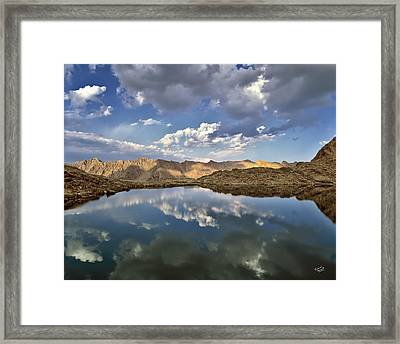 Wildhorse Lake Reflections Framed Print