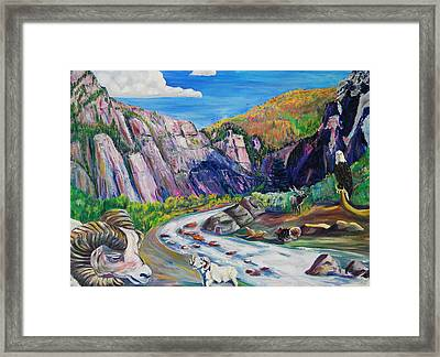 Wildlife On The Colorado River Framed Print by George Chacon