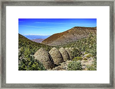 Wildrose Charcoal Kilns Framed Print by Charles Dobbs