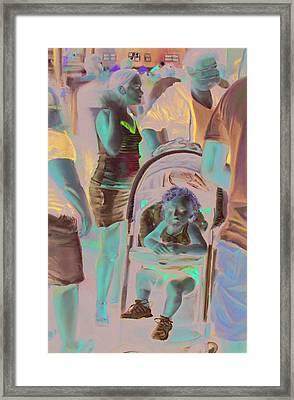 Wildwood Boardwalk Framed Print