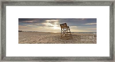 Wildwood Crest New Jersey Sunrise Framed Print by Dustin K Ryan