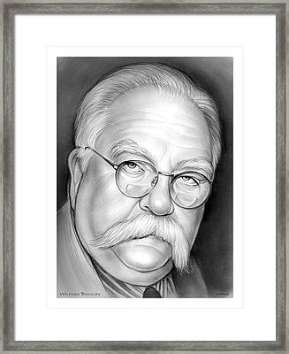 Wilford Brimley Framed Print by Greg Joens