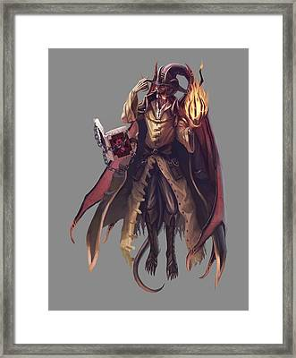 Wilham'nus The Demon Mage Framed Print by Leonardo Batista Torres