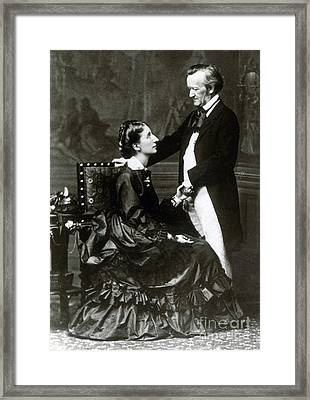 Wilhelm And Cosima Wagner Framed Print by Science Source