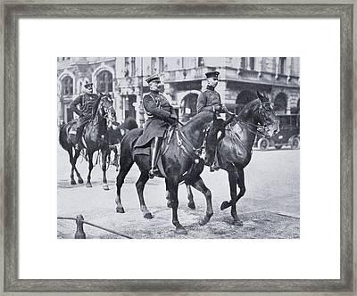 Wilhelm II, Emperor Of Germany, Riding Framed Print by Vintage Design Pics